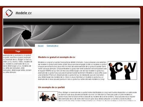 Cv En Ligne Gratuit Télécharger by Resume Format Exemple De Cv Gratuit Sans T 233 L 233 Chargement