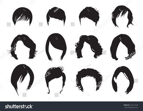 Short Hair Silhouette Stock Vector 178116728 : Shutterstock