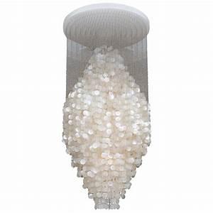 Giant verner panton fun dm capiz shell chandelier at stdibs