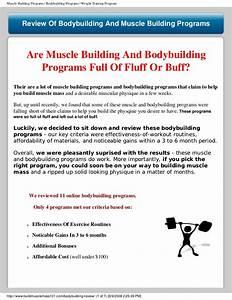 Bodybuilding Program Reviews