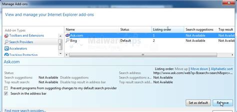 Remove Ask Toolbar And Ask.com Search (uninstall Guide
