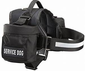 service dog harness with detachable backpacks patches With service dog backpack w lettering