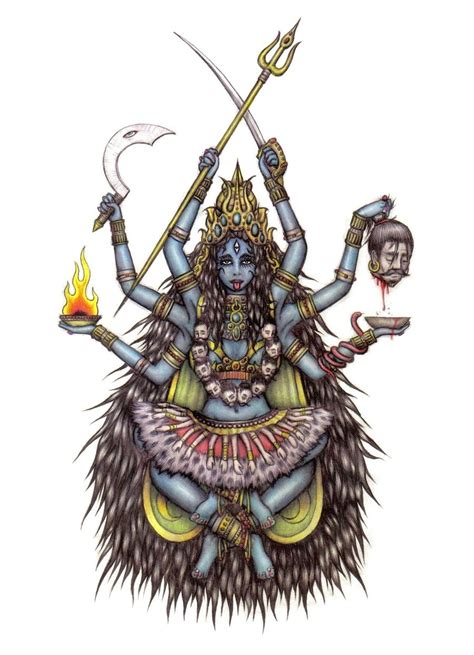 hindu god   dark mother