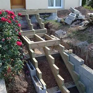construire un escalier exterieur en beton newsindoco With construire un escalier exterieur en bois