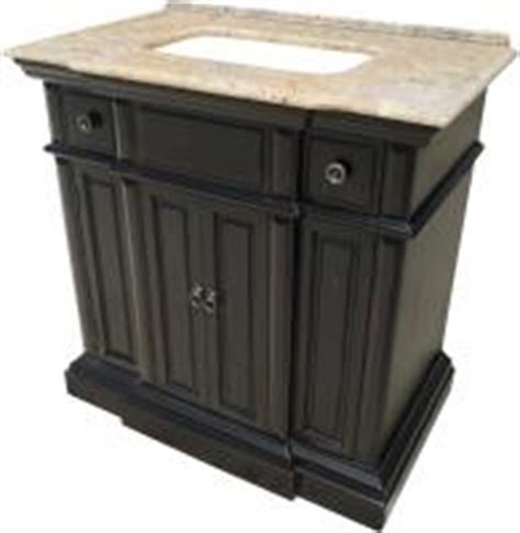 36 inch single sink bathroom vanity with a distressed gray
