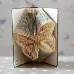 Folded Pages Book Sculpture Art Butterfly