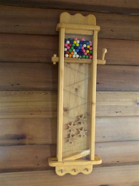 wooden gumball machine golden oak color