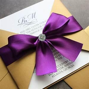 Gold and purple wedding invitation wedding ideas pinterest for Purple and gold wedding invitations uk