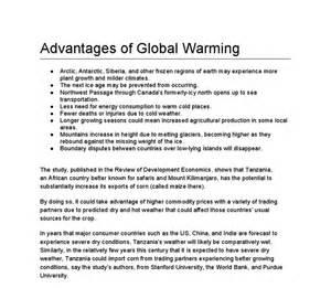 a good essay on global warming