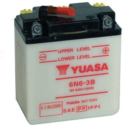 batterie yuasa moto 6n6 3b