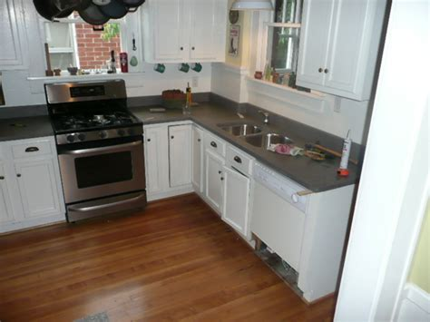 We Are The Guinea Pigs…new Concrete Countertops For Our