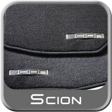 scion xb floor mats 2006 2003 2007 scion xb carpeted floor mats black w silver logo