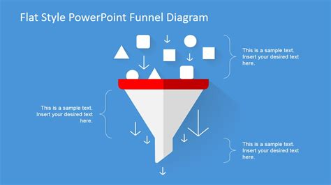 flat design funnel diagram  powerpoint slidemodel
