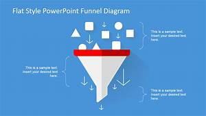 Flat Design Funnel Diagram For Powerpoint
