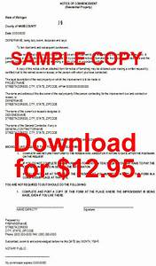 Letter Of Intent To Work Sample Michigan Individual Lien Notices In Microsoft Word Format