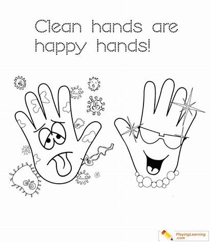Hands Clean Coloring Pages Flu Season Hand
