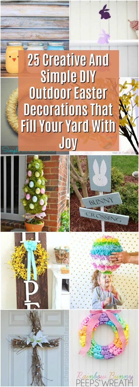 Outdoor Decorations Diy - 25 creative diy outdoor easter decorations that fill your