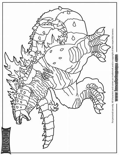 Godzilla Coloring Pages Monster Science Fiction Colouring
