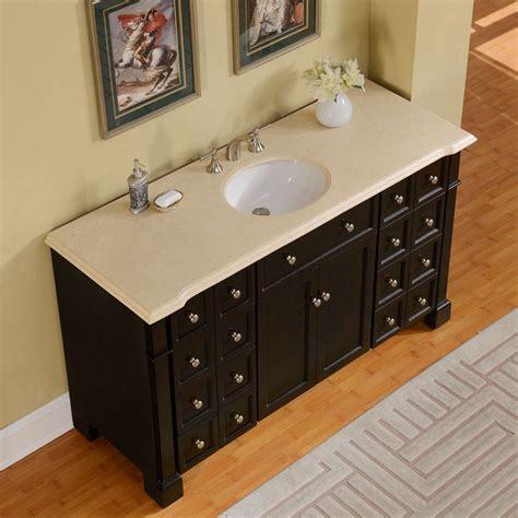silkroad 60 inch crema marfil marble stone top bathroom double sink vanity