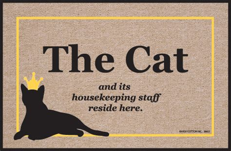 Are You A Doormat by Cat Housekeeping Staff Doormat Humorous Welcome Mat