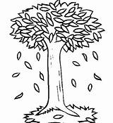 Coloring Tree Pages Fall Children sketch template