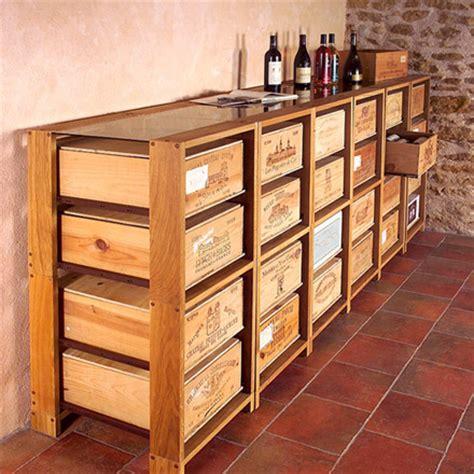 cave a vin de cuisine meuble caisses vin avec des palettes