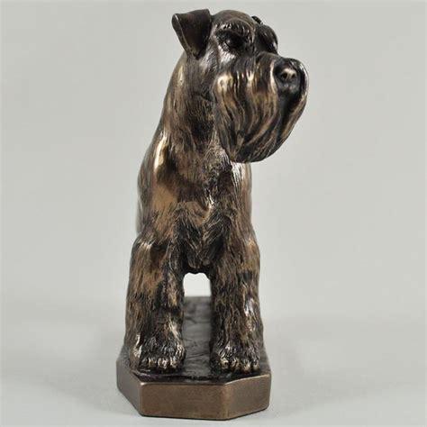 schnauzer cold cast bronze sculpture  david geenty