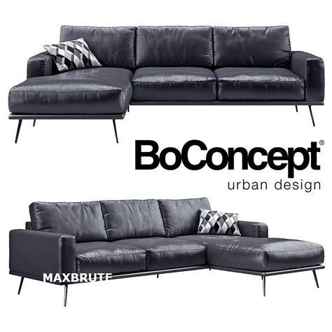 sofa divan boconcept carlton black maxbrute furniture visualization