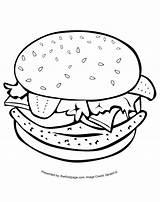 Coloring Colouring Hamburger Sheets Printable Sheet Template Sketch Pdf Popular Coloringhome sketch template