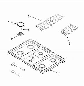 Amana Aks3640cc Gas Cooktop Parts