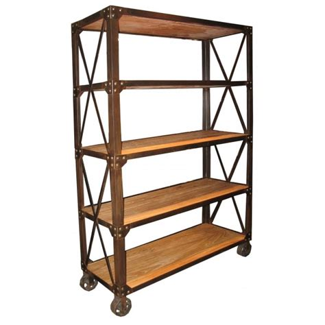 Small Bookcase On Wheels by Noir Elm Metal Shelving Unit With Casters