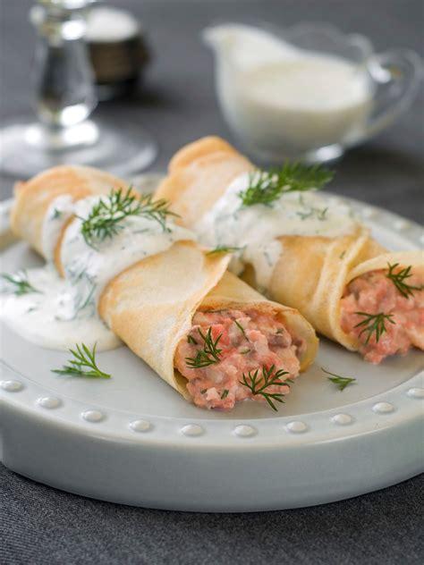 crêpes salées au saumon cuisine az