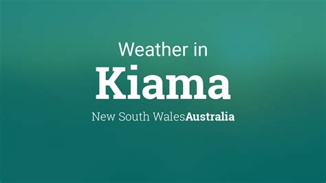 weather  kiama  south wales australia