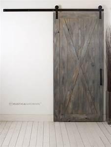 Full x barn door http rusticahardwarecom from loft for Barnwood pocket door