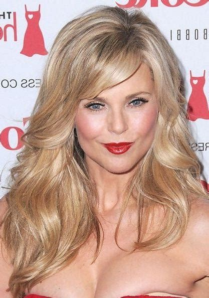 2019 latest long hairstyles for women over 40 with bangs