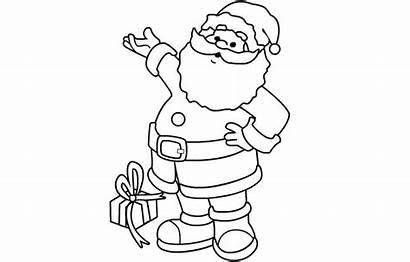 Claus Santa Printable Outline Patterns Christmas Template