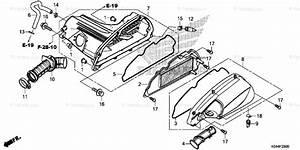 Honda Scooter 2014 Oem Parts Diagram For Air Cleaner