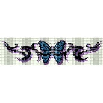 butterfly tattoo loom beading pattern  cuff bracelet