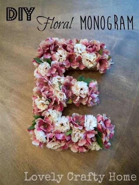 diy faux floral monogram letter