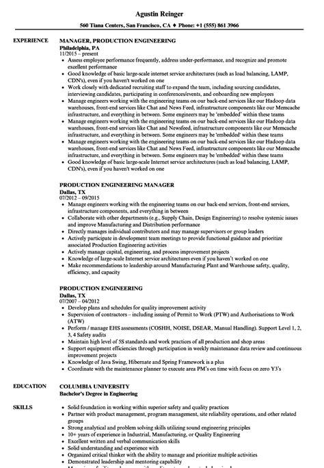 production engineering resume samples velvet jobs