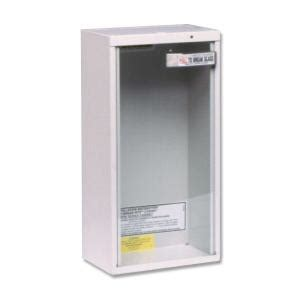 Kidde Semi Recessed Extinguisher Cabinets by Kidde 6 Lb Surface Mount Extinguisher Cabinet 468041