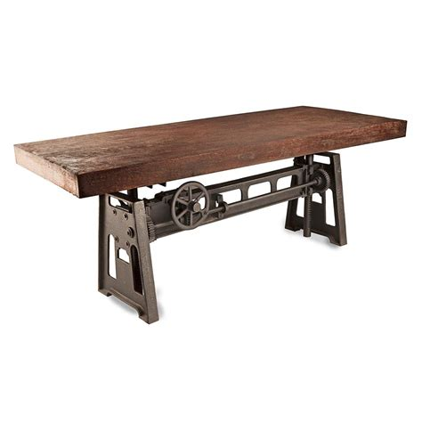 industrial looking dining room tables gerrit industrial style rustic pine iron dining table