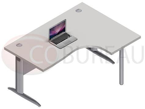 mobilier bureau modulaire bureau compact 160 cm pro métal pieds en l
