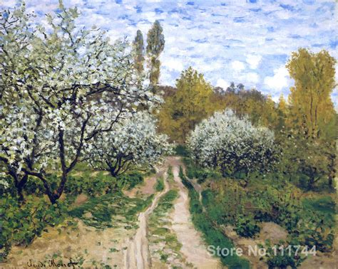 trees in bloom online art gallery trees in bloom claude monet landscape paintings hand painted high quality in
