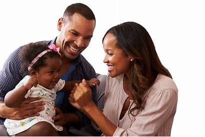 African American Accounts Couple Happy Parents Playing