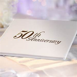 quot50th anniversaryquot guest registry book anniversary With 50th wedding anniversary guest book