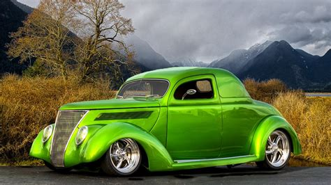 1936 Ford Coupe (lime) - High Definition Wallpaper