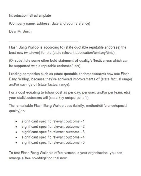 letter  introduction business template business