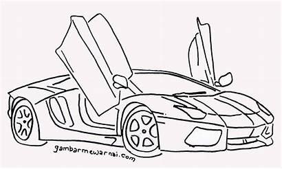Mobil Gambar Mewarnai Untuk Balap Sketsa Keren