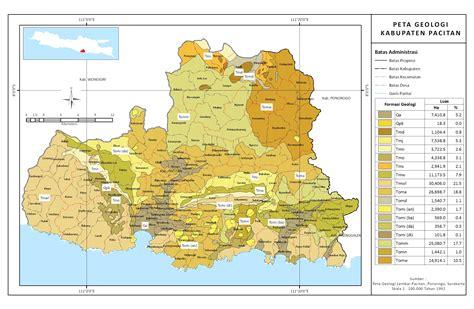 seri peta kab pacitan jatim bagian  peta geologi